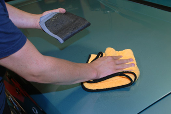 Speedy Surface Prep Towel takes half the time to use when compared to conventional detailing clay