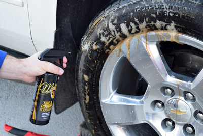 McKee's 37 Tire & Rubber Rejuvenator removes browning on contact!