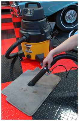 Use the Tornador Blastor Vacuum Attachment with the Detailer's Shop Vac for ultimate carpet cleaning!