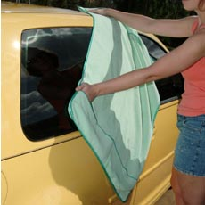 The Cobra Guzzler Waffle Weave Microfiber Drying Towel removes virtually all water to prevent water spots.