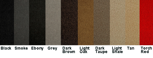 Lloyd custom Velourtex floor mats are available in multiple colors.