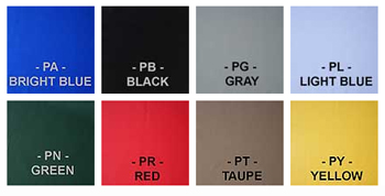 Weathershield HP covers are available in eight vibrant colors.