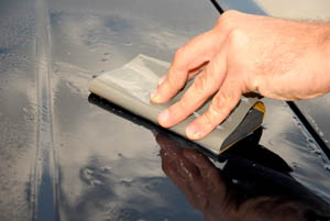 Wrap the Meguiars Sand Paper around the Sanding Pad for easier handling and even results.