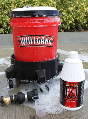 Wolfgang Auto Bathe produces a rich lather to safely wash your car.