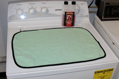 Wolfgang Microfiber Cleaner and Rejuvenator is safe for use in HE washing machines