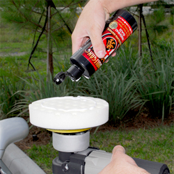 Apply Wolfgang Finishing Glaze 3.0 with a polishing pad by Lake Country or The Edge 2000.