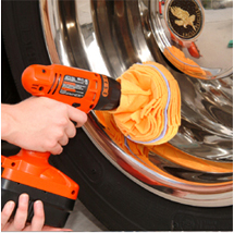 Use the Flitz Polishing Ball to polish with Wolfgang Metallwerk Aluminum Polish.