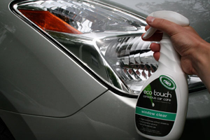 Eco Touch Window Clear Cleaner cleans glass and clear plastics.
