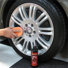 Wolfgang Exterior Trim Sealant protects wheels.