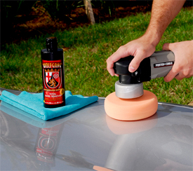Use Wolfgang Total Swirl Remover 3.0 with a dual action or rotary buffer.