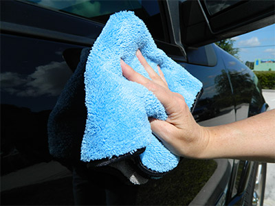 The Shine and Buff Waterless Wash Towel is soft enough for delicate paint finishes