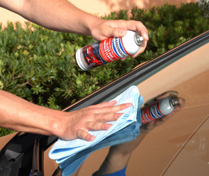 Diamondite Glass & Surface Cleaner is safe on tinted windows and will not streak or haze the glass