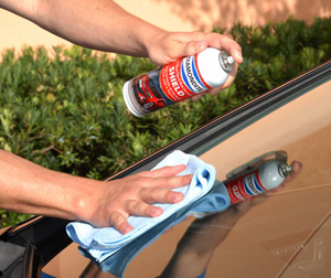 Diamondite Shield provides a high-tech protective coating on exterior glass surfaces