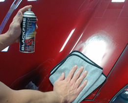 Blackfire Midnight Sun Spray Wax is super easy to use.
