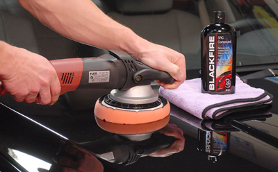 Blackfire SRC Compound can be applied with a rotary or orbital polisher.
