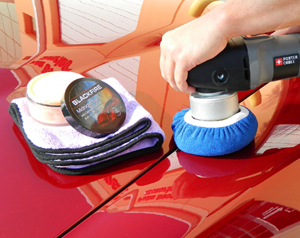 The Indigo Bonnet is perfect for removing polish and wax with your DA polisher