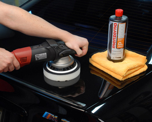 Menzerna Intensive Polish is designed to be used on fresh paint to remove 2000 grit and finer sanding marks.