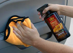 Pinnacle Signature All Purpose Cleaner is safe enough for delicate interior surfaces