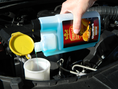 Pinnacle GlassWork Windshield Washer Booster supercharges your regular washer fluid to dramatically increase its performance!