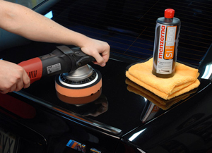 Menzerna Medium Cut Polish 2400 removes heavy swirls, water spots and scratches from all paint finishes.