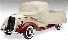 Covercraft Tan Flannel indoor car cover.
