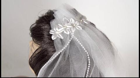 Our white bachelorette party veil from Bachelorette.com make great bachelorette party supplies