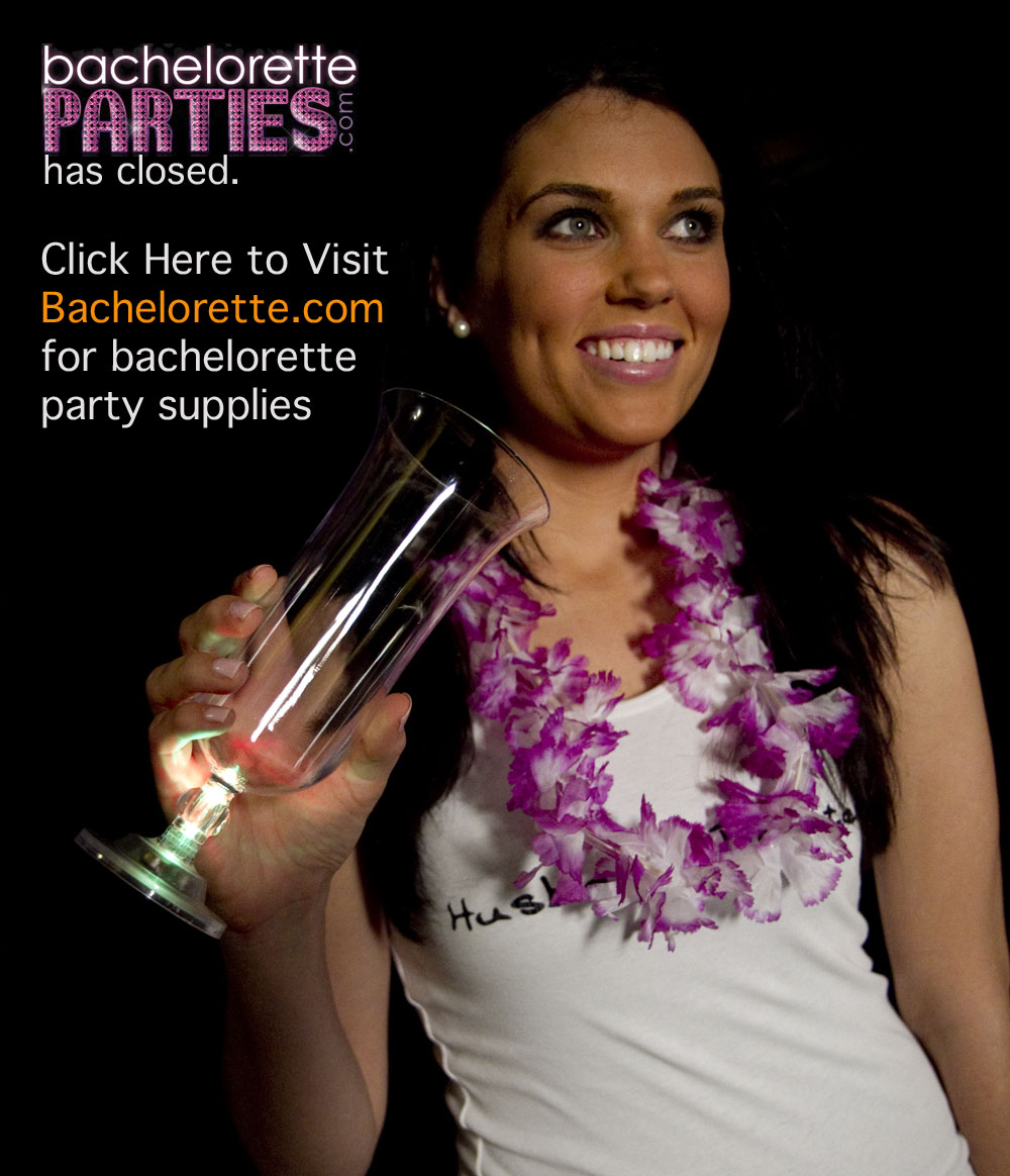 BacheloretteParties.com has closed visit Bachelorette.com for bachelorette party supplies now.
