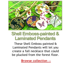 Shell Emboss-painted & Laminated Pendants