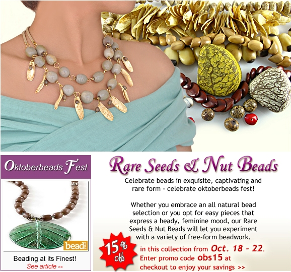 Oktoberbeads Fest: Rare Seeds & Nut Beads - 15% OFF