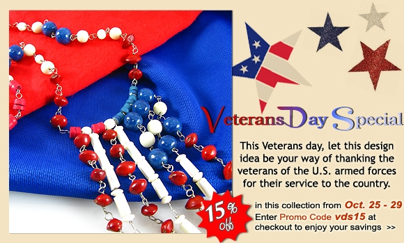 Veterans Day Special 15% OFF from Oct. 25 - Oct. 29