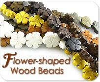 Flower Shaped Wood Beads