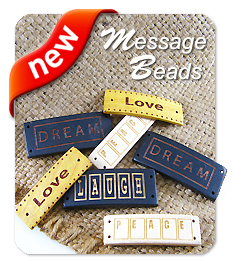 Laser Carved Message Beads