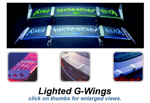 G-wing lighted spoilers