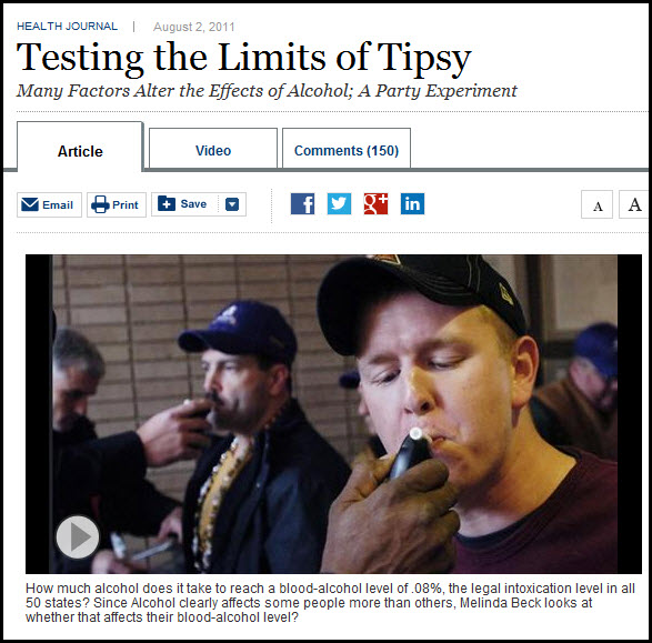 Wall Street Journal Breathalyzer article