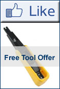 Follow us on Facebook - Get a free punch down tool.