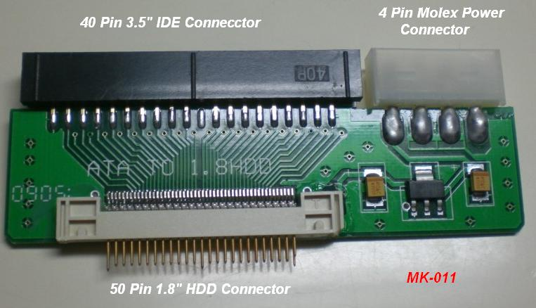 40 Pin Male 3 5 Quot To 50 Pin Male 1 8 Quot Ide Hard Drive Adapter
