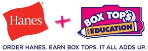 Order Hanes.  Earn Box Tops.  It All Adds Up.