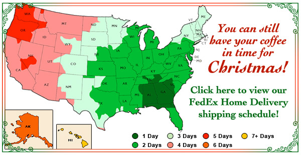 Holiday Shipping Schedule.