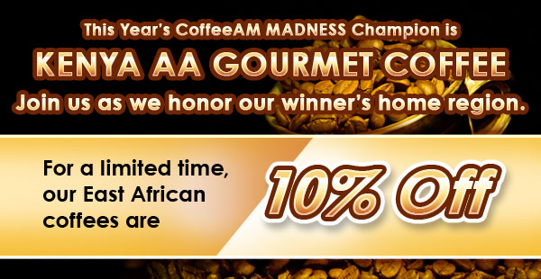 10% Off East African Coffees!