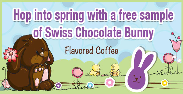 Free Sample of Swiss Chocolate Bunny Coffee at CoffeeAM!