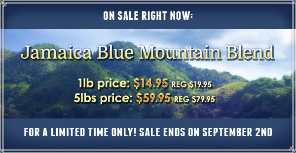 Jabaica Blue Mountain Blend on Sale at CoffeeAM!
