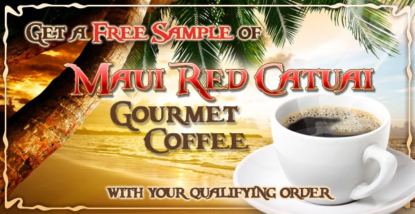 Free Sample of Maui Red Catuai Coffee at CoffeeAM!