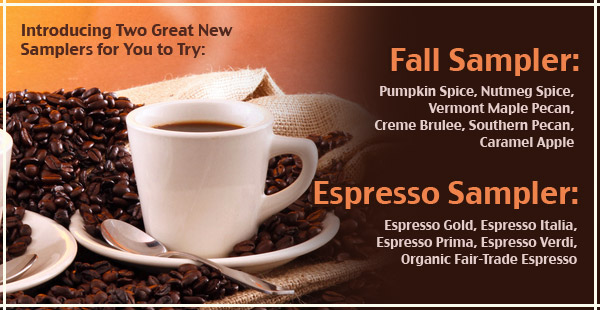 New Coffee Samplers at CoffeeAM!