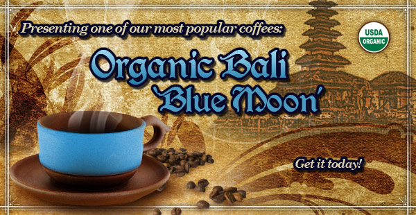 Organic Bali 'Blue Moon' is Back at CoffeeAM!