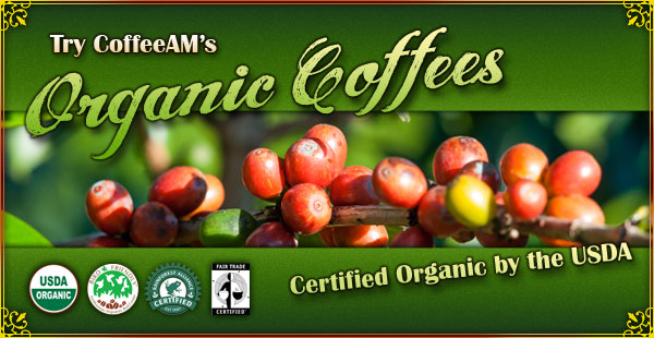 Organic Coffees at CoffeeAM!