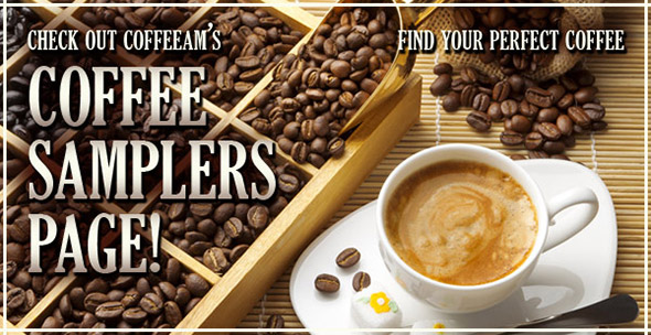 Coffee samplers at CoffeeAM!