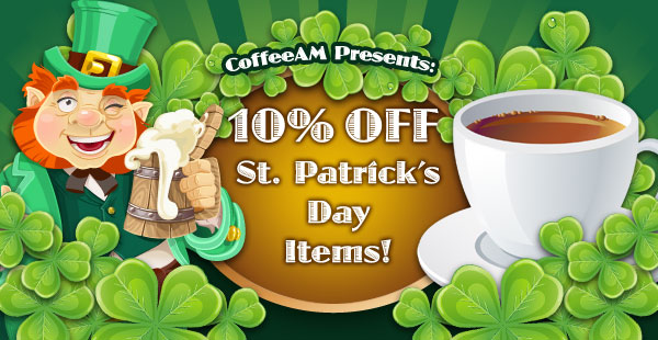 St. Patrick's Day Coffees at CoffeeAM!