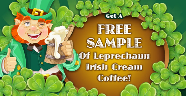 Free Sample of Irish Cream Flavored Coffee!