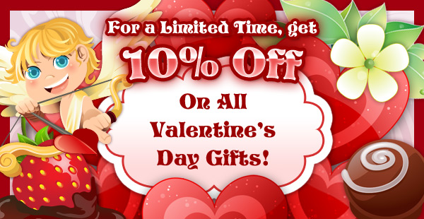 Valentine's Day 10% Off!