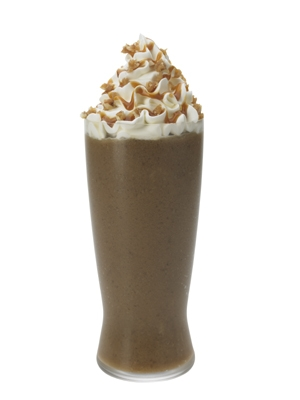 Monin Caramel Nut Crunch Frappe Recipe